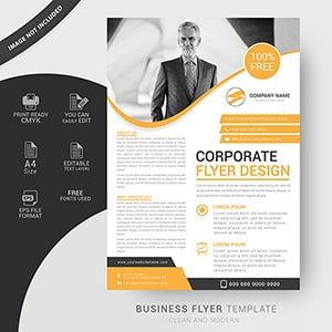 business, free flyers, template, vector, design, business
