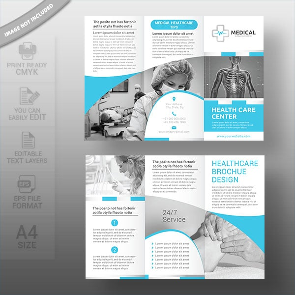 Medical healthcare brochure template