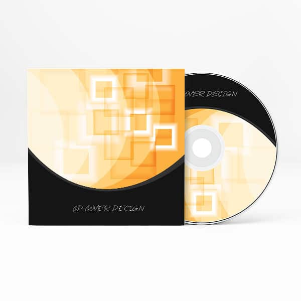 Shiny abstract CD cover design