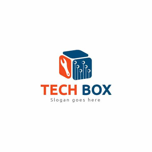 Tech box logo design template
