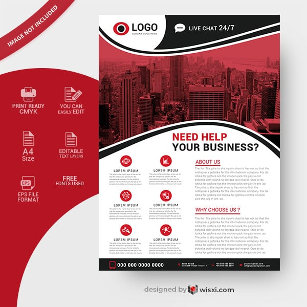 Vector business flyer design