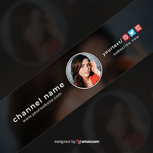 Creative YouTube banner design