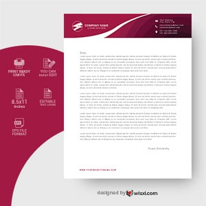 Business letterhead template design