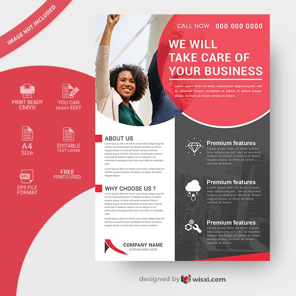 Company business flyer design