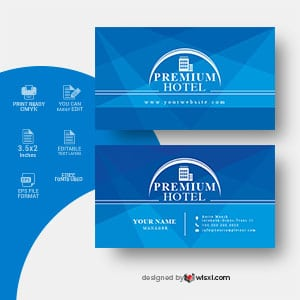 Hotel business card design