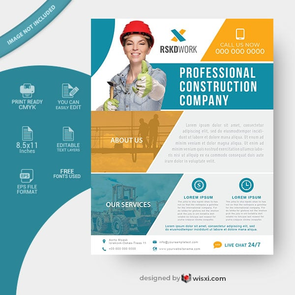 Construction company flyer design