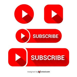 YouTube social media icon vector