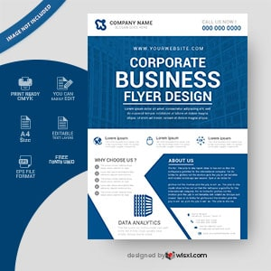 Corporate business flyer poster