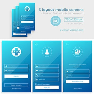 Mobile apps login screen design