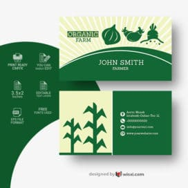 Farmer business card vector