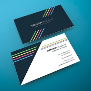 Two sided business card vector