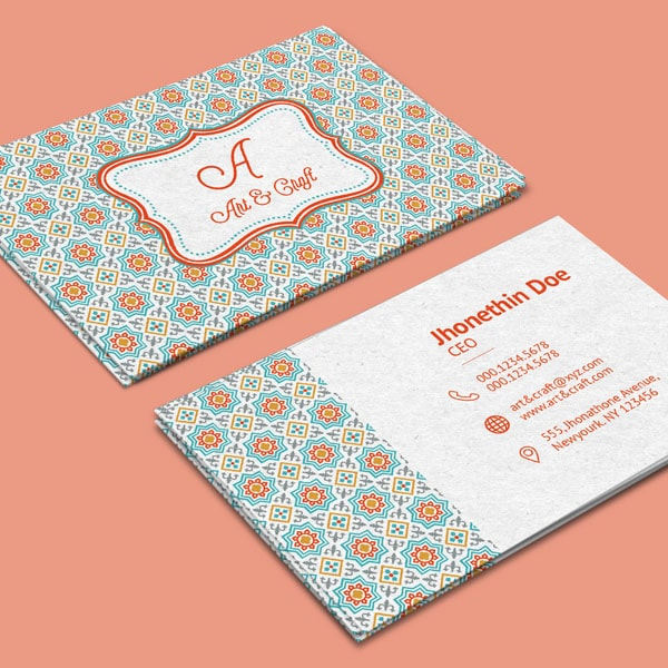 Arts agency business card
