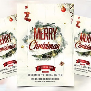 Professional christmas flyer design