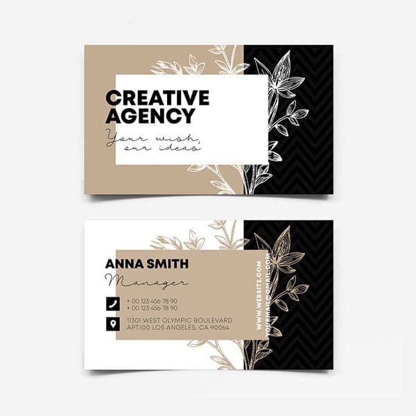 Creative agency business card design
