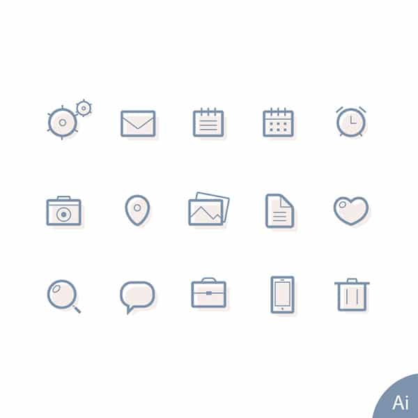 Free lined icons vector