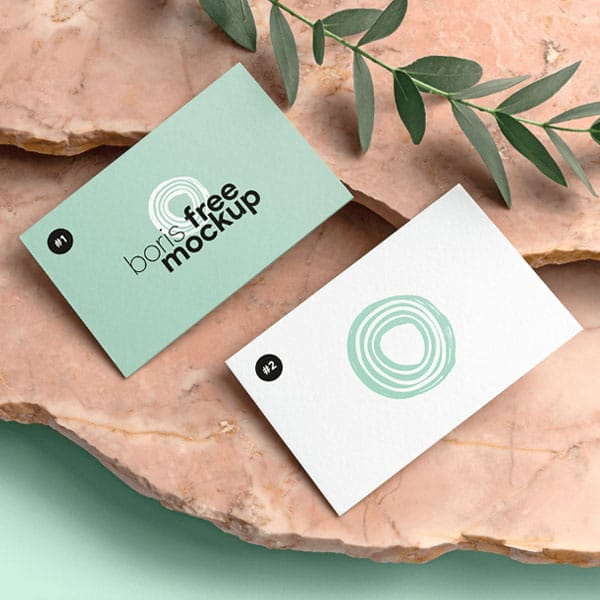 Thick business card mockup