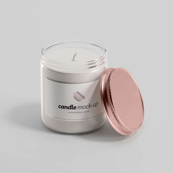 Candle Mockup PSD Template