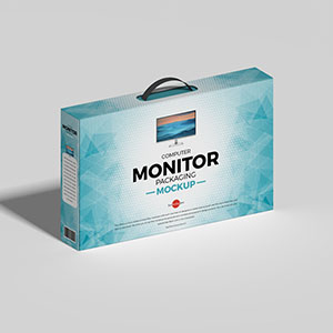 Computer Monitor Packaging Mockup