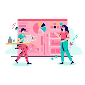 Data report vector illustration