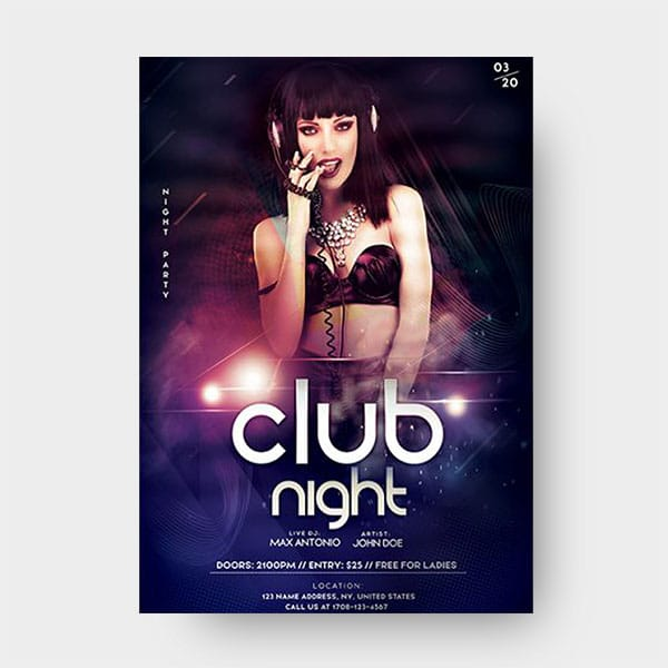 Dj Party PSD Flyer Template