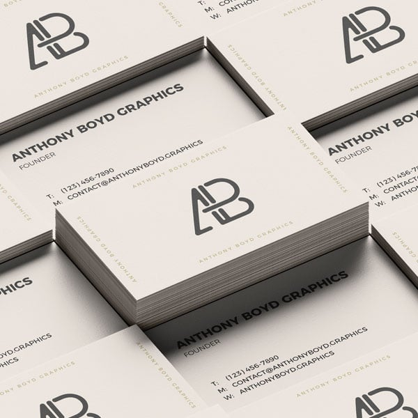 Grid business card mockup