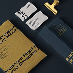 Mailing Stationery Envelope Mockup