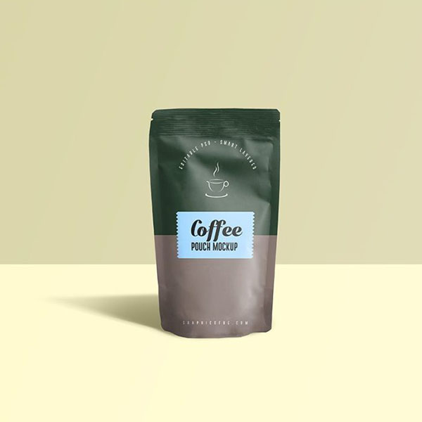 Coffee Pouch Mockup