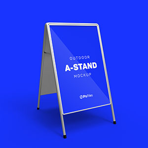 Foldable A Stand Mockup