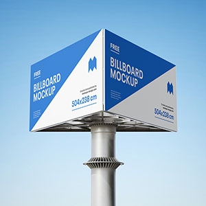 Triple Billboard Mockup
