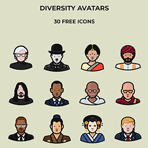Diversity Avatars Icons