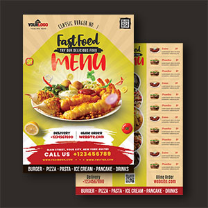 Free Food Menu Card Template