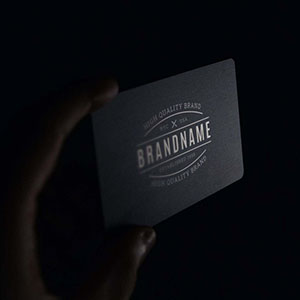 Logo on Card Mockup