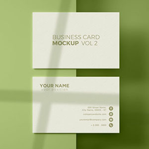 Shadow Overlay Business Card Mockup