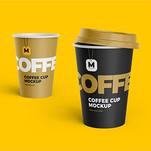 Tea and Coffee Cups Mockup