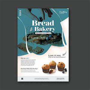 Bakery Cupcake Flyer Template