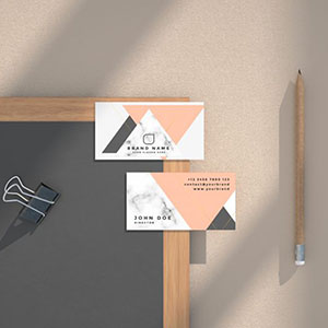 Free Business Card Scene Mockup