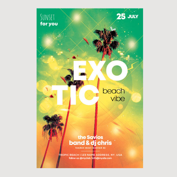 Exotic Summer Flyer Template