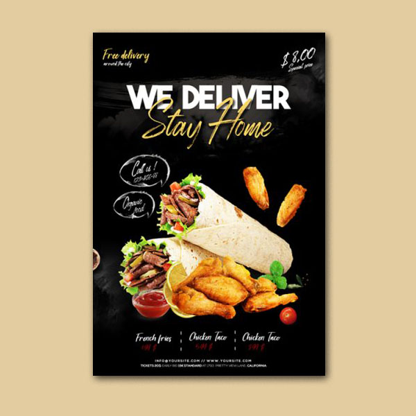 Home Delivery Food Flyer Template