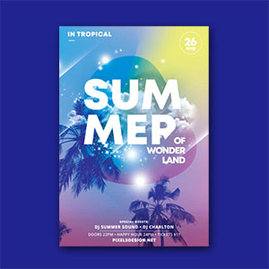 Summer Land Flyer Template