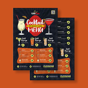Cocktail Menu Card Design