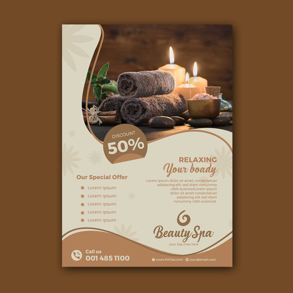 Luxury Beauty Spa PSD Flyer Design