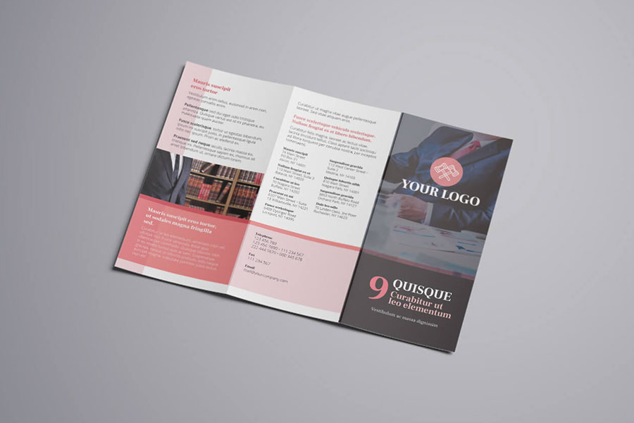Attorney & Law Trifold Brochure
