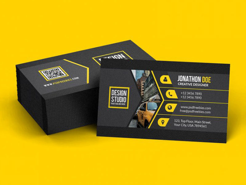 Creative Black Business Card Template
