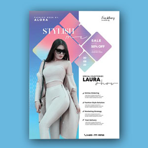 Fashion summer wear flyer template