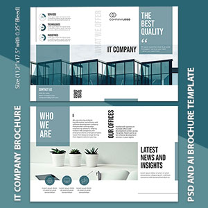 IT Company Bi-fold Brochure