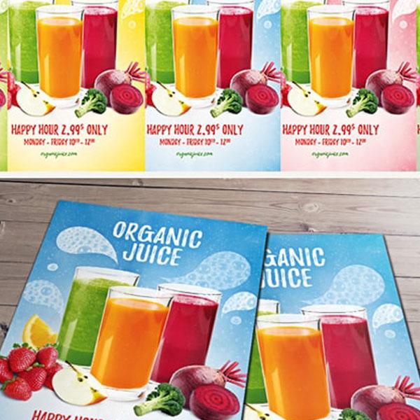 Organic Juice Flyer Template