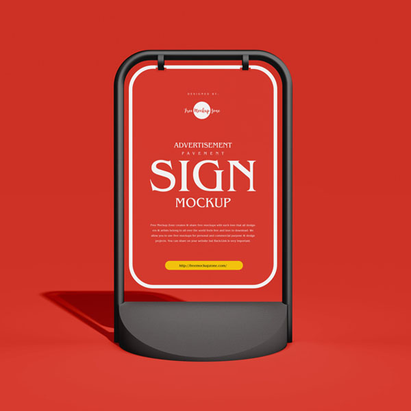 Pavement Sign Mockup