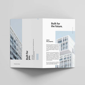 Real Estate Bifold Brochure Template