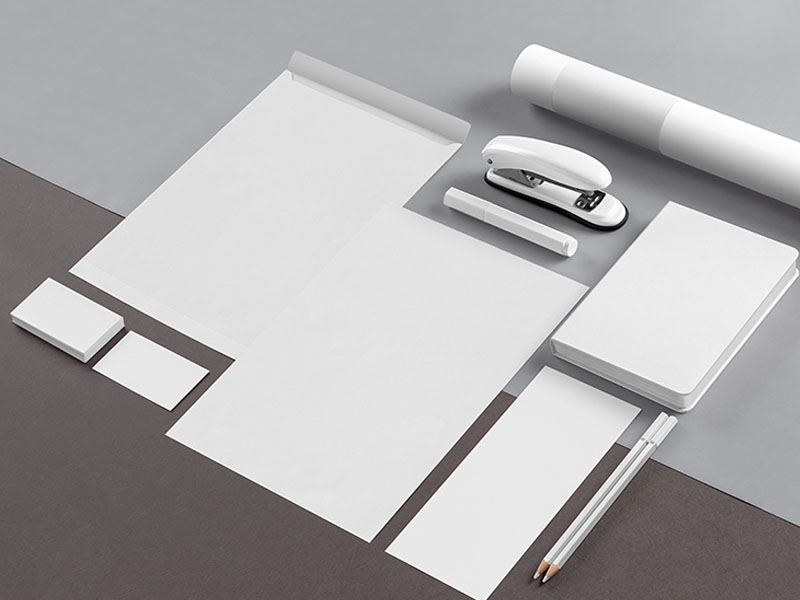 Isometric Stationery Mockup