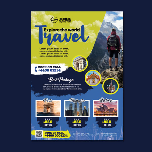 Holiday packages flyer template